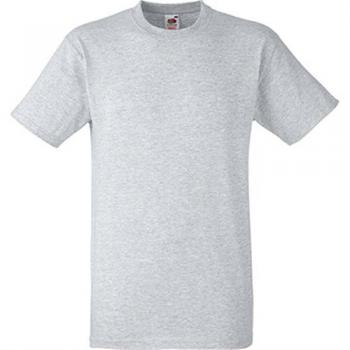 5 Stk. T-Shirts Fruit of the Loom Heavy Cotton 195g grau-melange