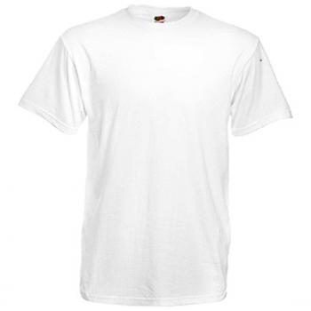 5 Stk. T-Shirts Fruit of the Loom Heavy Cotton 180g weiß