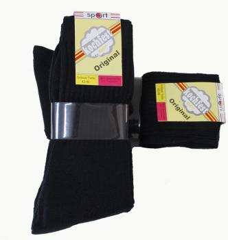 10 Paar Damen Freizeit Socken schwarz 90/% Baumwolle