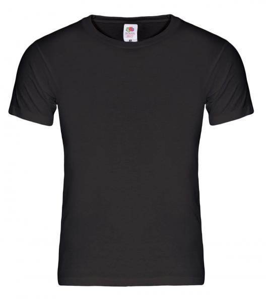 5 Stk. T-Shirts Fruit of the Loom Heavy Cotton 195g schwarz